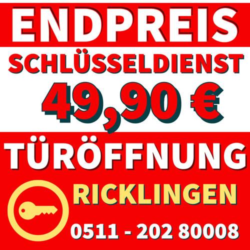 Schlüsseldienst Festpreis - Hannover Ricklingen